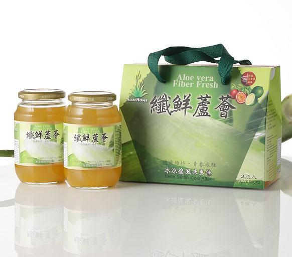 纖鮮蘆薈(2瓶入)伴手禮盒-6盒/箱(百香果口味)