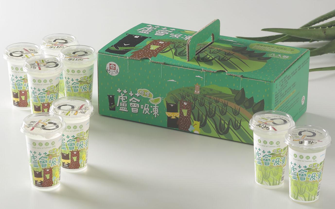 檸檬蘆薈吸凍伴手禮盒-220g/杯,8杯/盒,6盒/箱