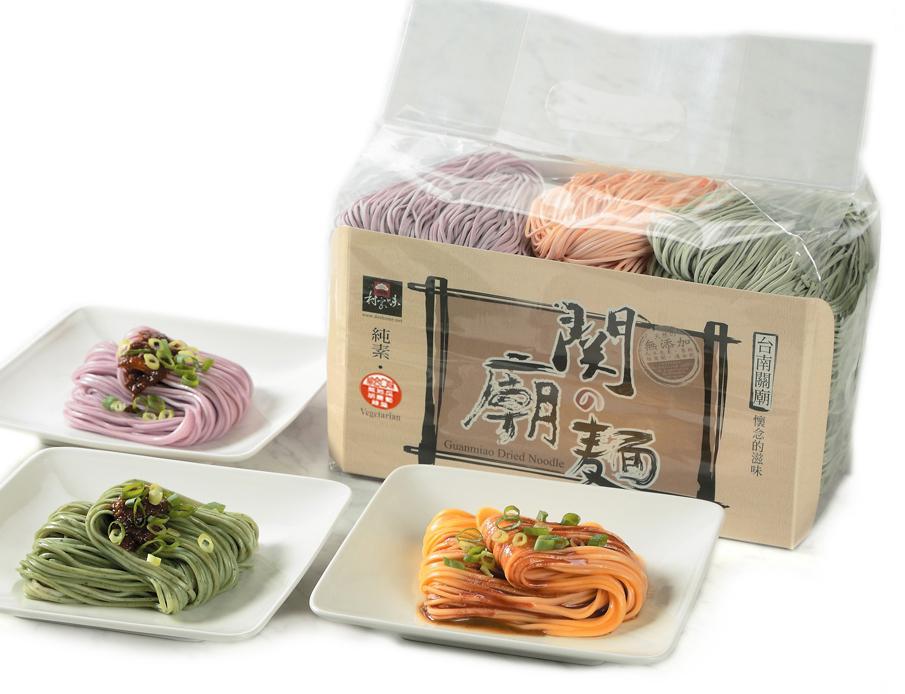 綜合關廟麵-紫地瓜、胡蘿蔔、綠藻(1500g家庭包)