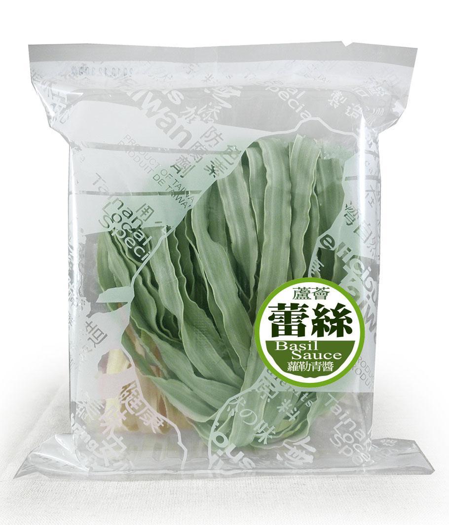 蘆薈蕾絲麵方便包(2片入)附蘿勒青醬--五辛素