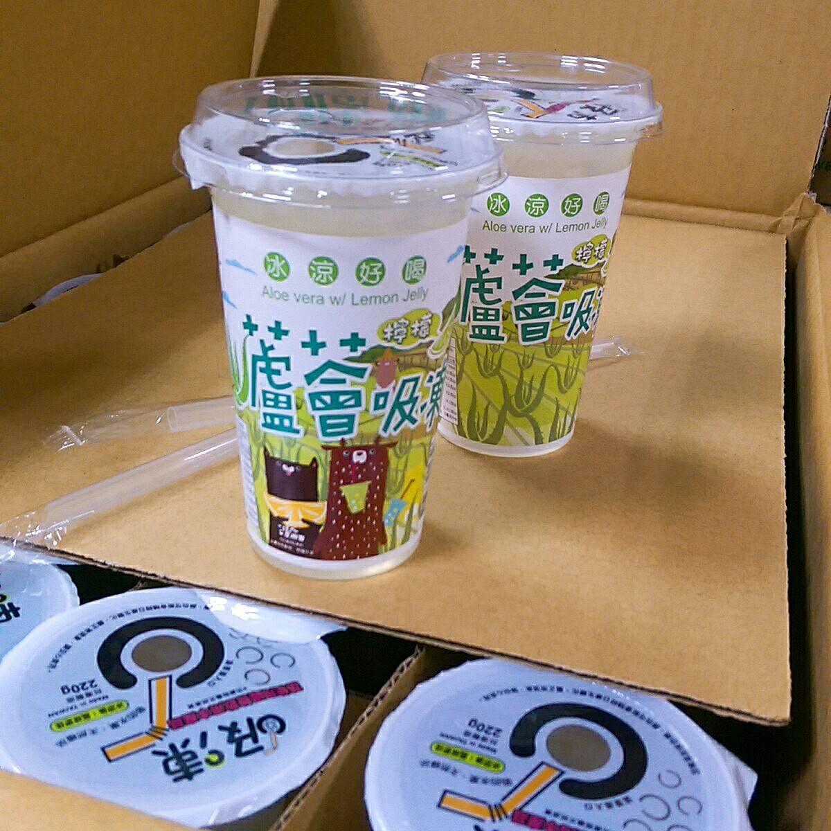 檸檬蘆薈吸凍-220g/杯,24杯/箱